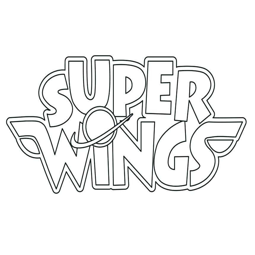 Super Wings Logo Coloring Page