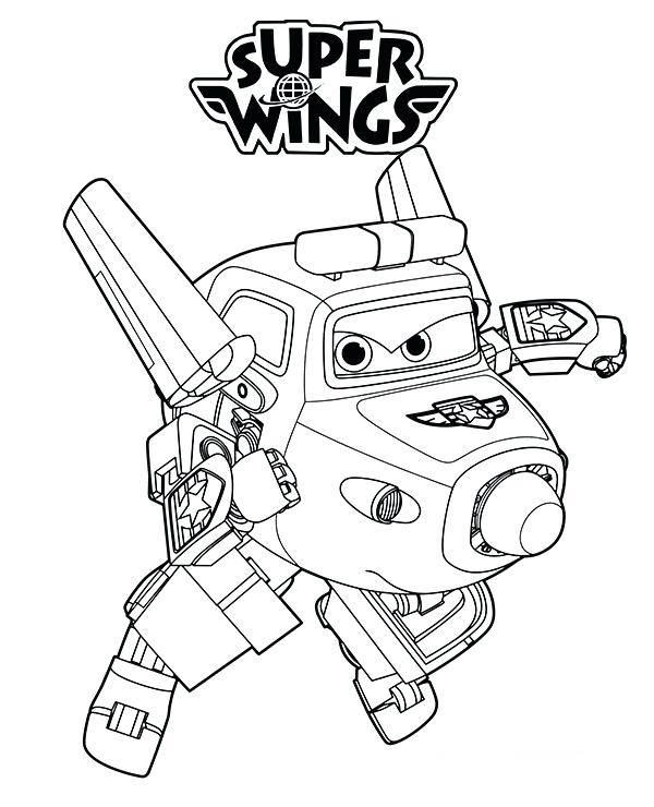 Super Wings Show Coloring Pages