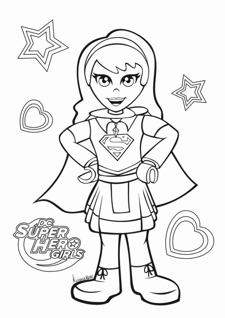Supergirl Teen DC Coloring Page
