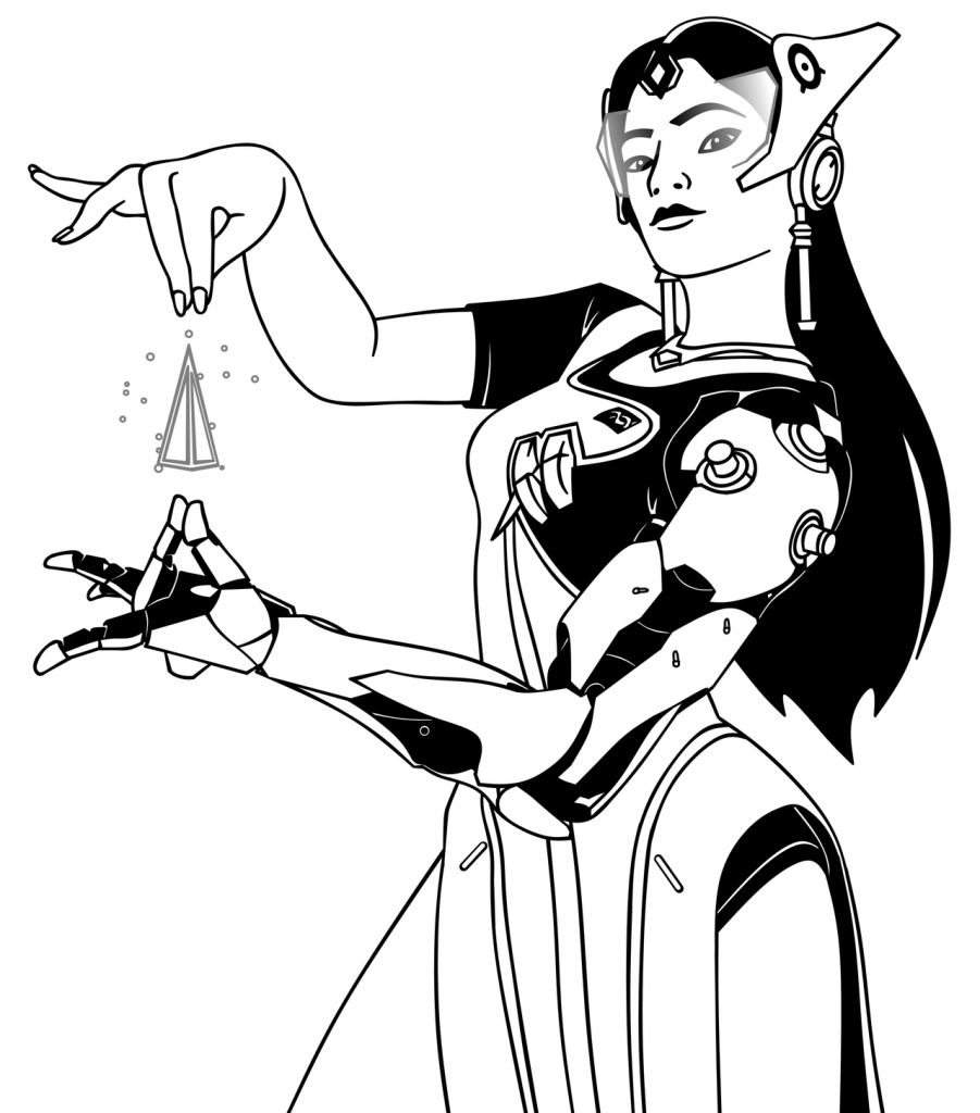 Symmetra - Overwatch Coloring Pages