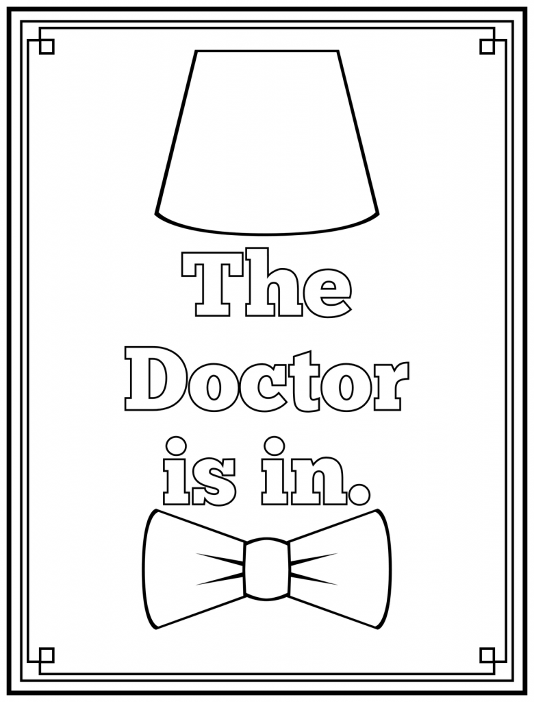 The Doctor is In Doctor Who Coloring Page