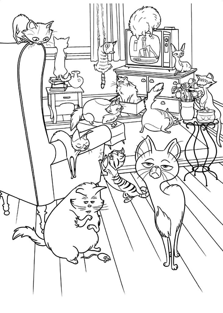 The Secret Life of Pets Characters Coloring Pages