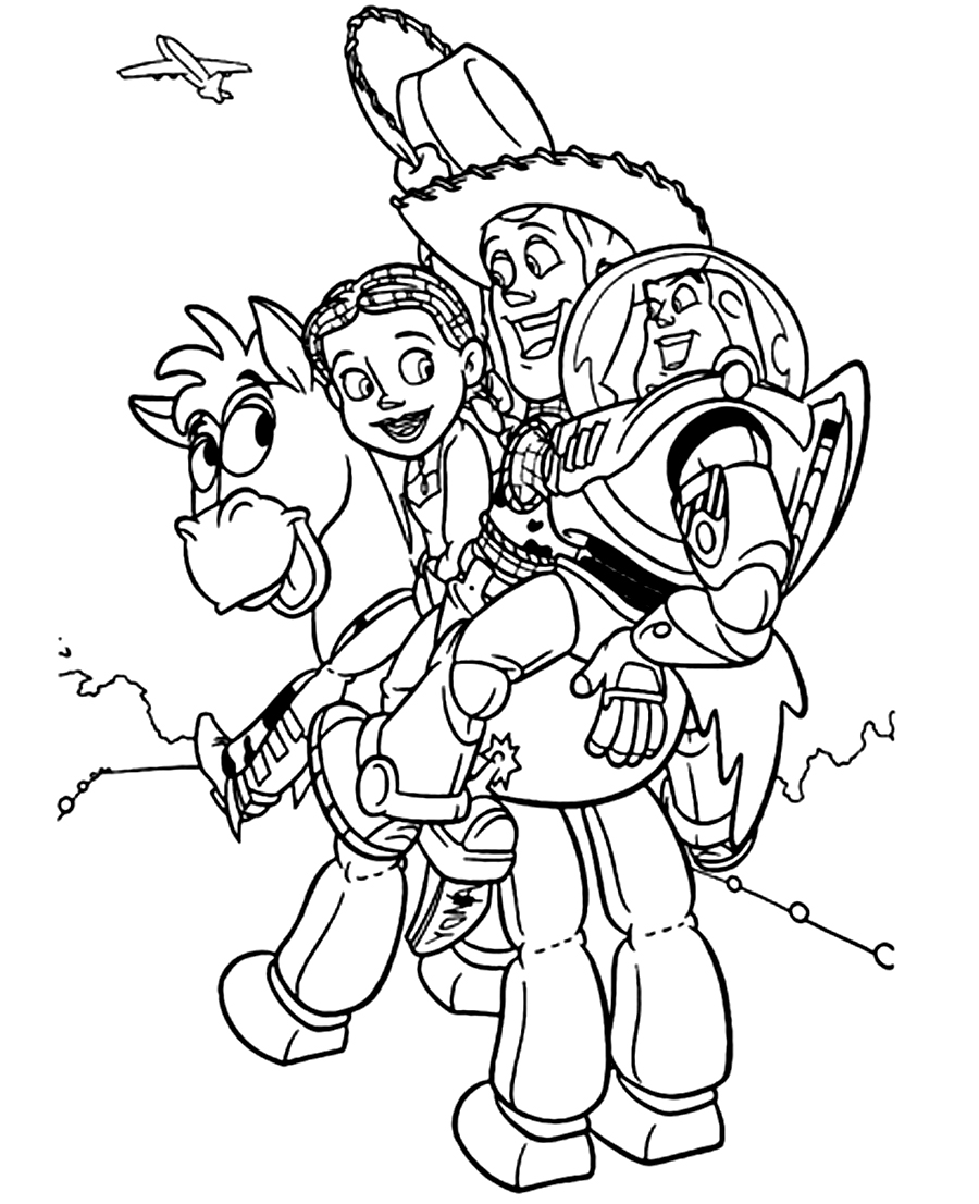 Toy Story 4 Sheriff Woody Coloring Pages - Get Coloring Pages | 1106x900