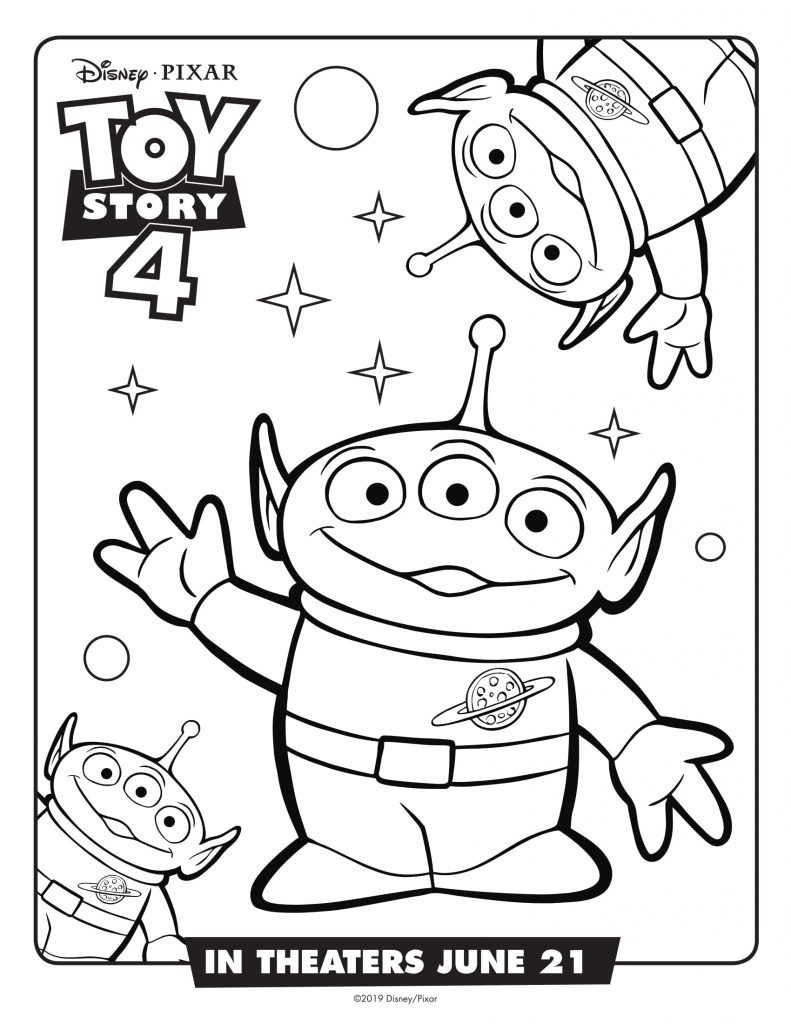 Toy Story 4 Movie Coloring Pages