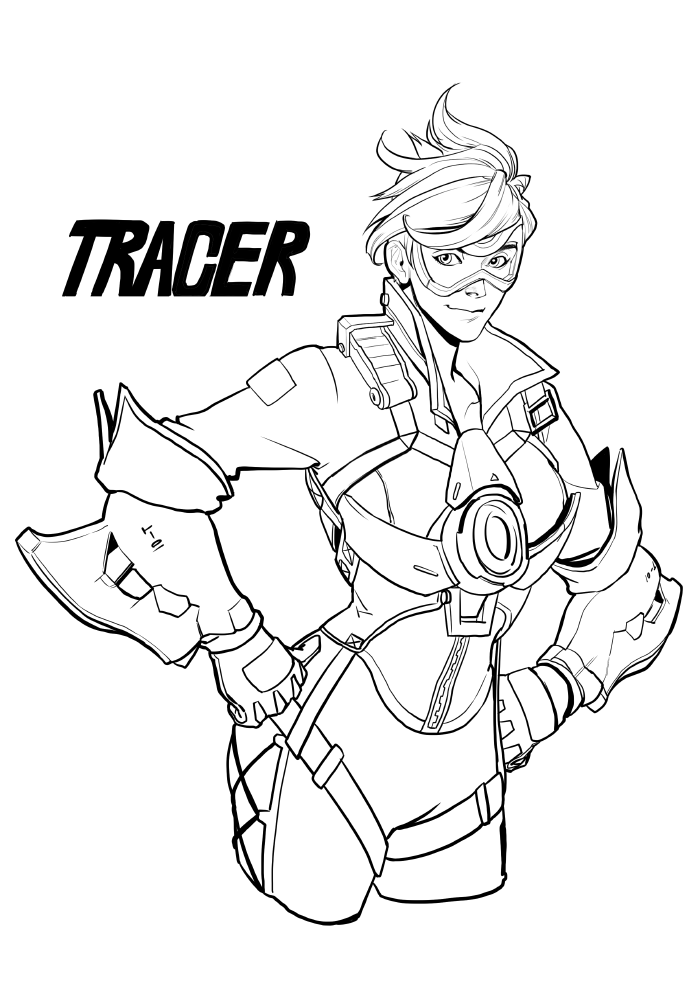Tracer - Overwatch Coloring Pages