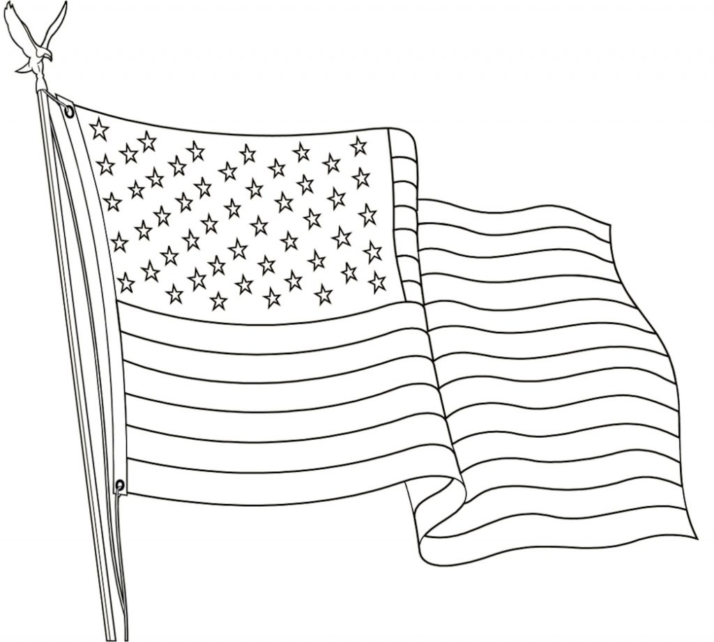 USA Flag Day Coloring Page