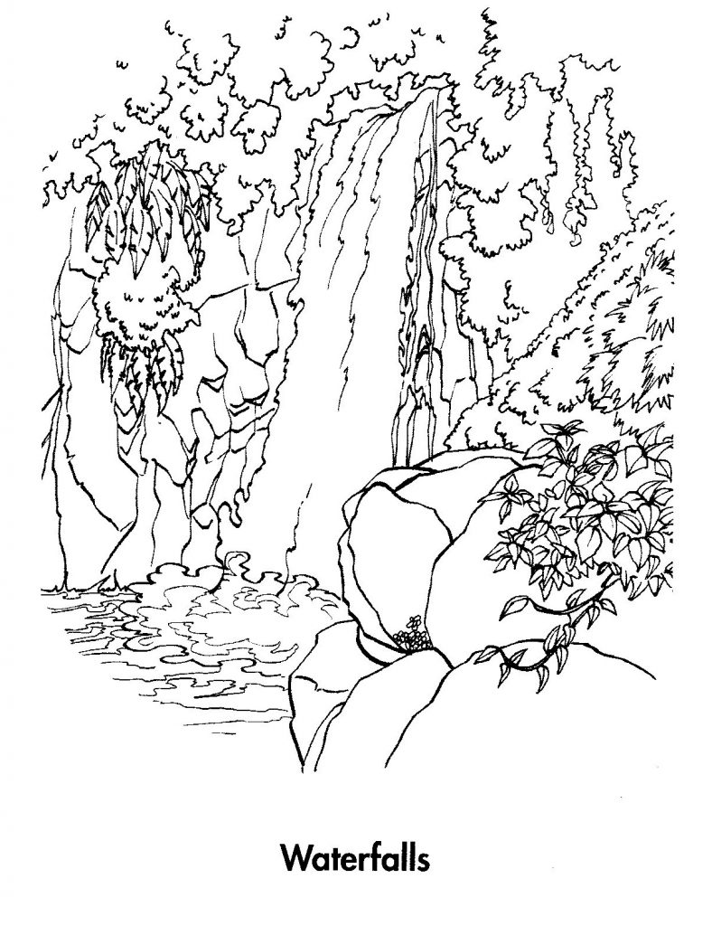 Waterfalls Coloring Pages