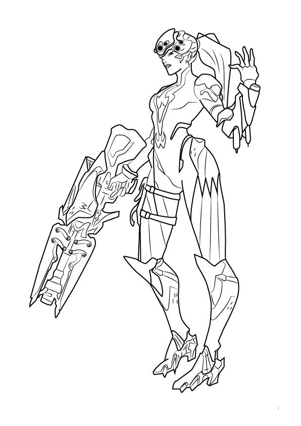 Widow Maker - Overwatch Coloring Pages