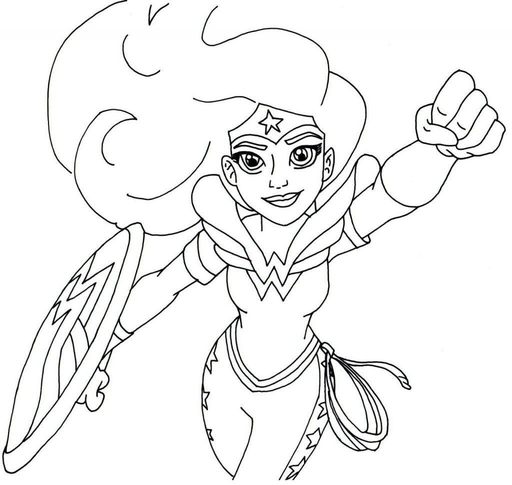 Wonder Woman DC Superhero Girls Coloring Page