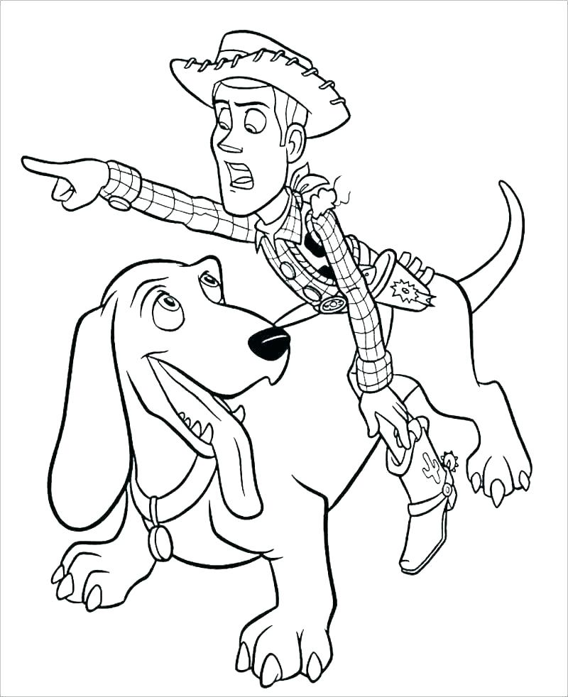 Woody Toy Story 4 Coloring Pages