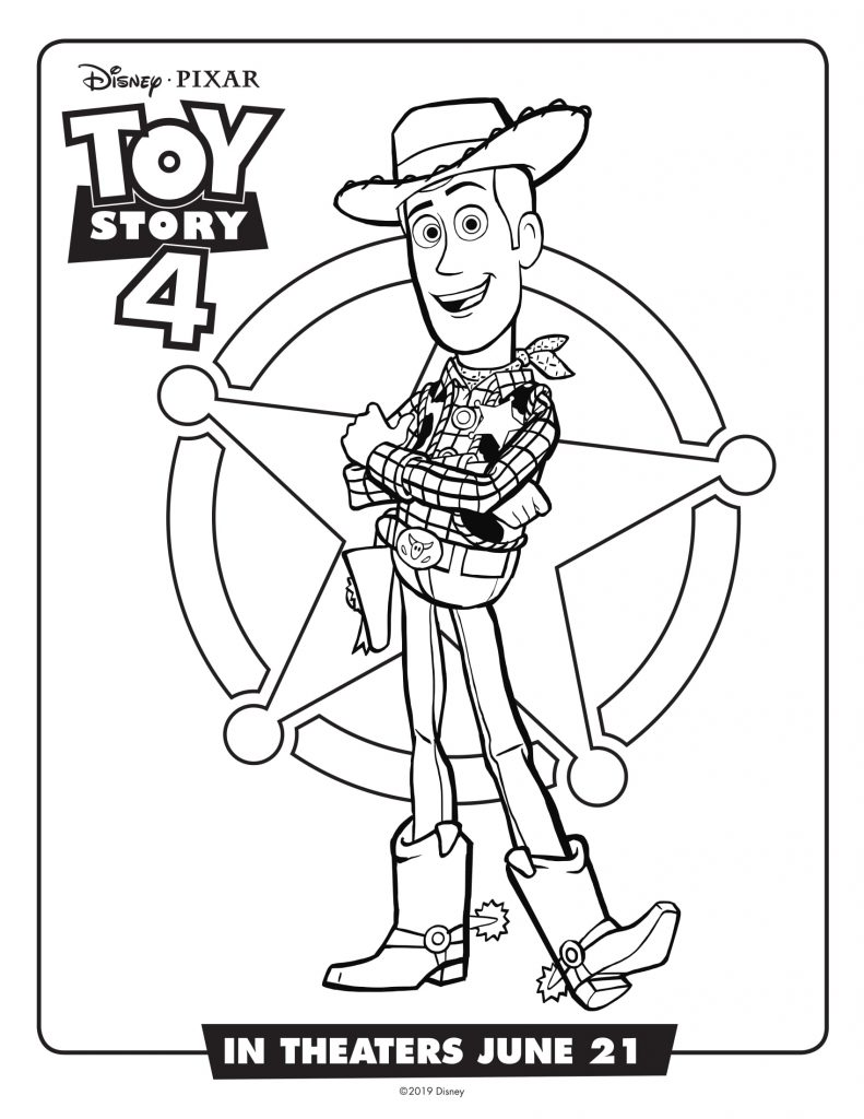 Woody - Toy Story 4 Movie Coloring Pages