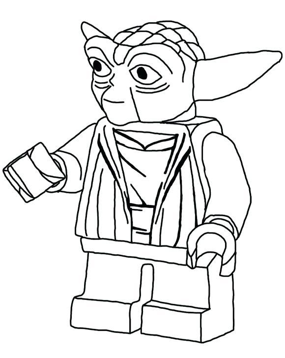 Yoda Coloring Page Lego
