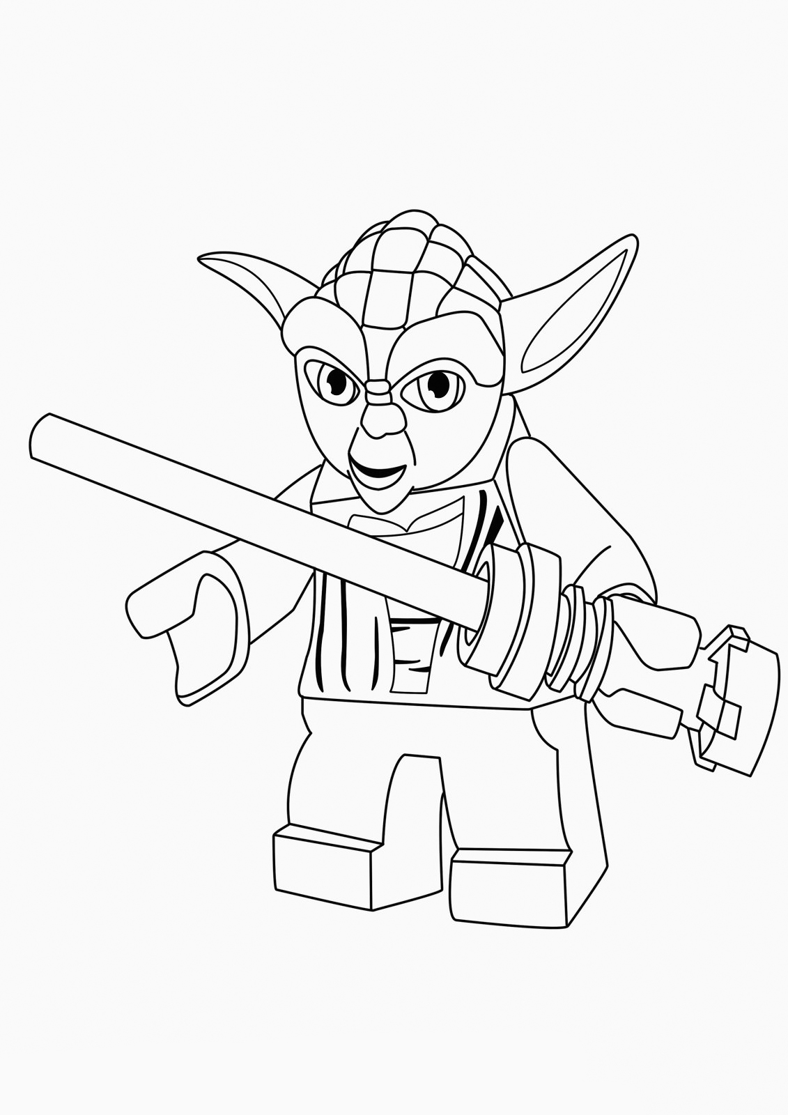 STAR WARS Coloring Page – Yoda   Vanquish Studio   1600x1131