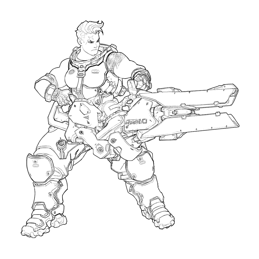 Zarya - Overwatch Coloring Pages