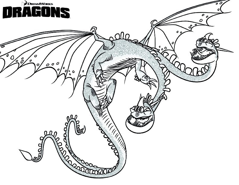 Zippleback - How to Train Your Dragon Coloring Page