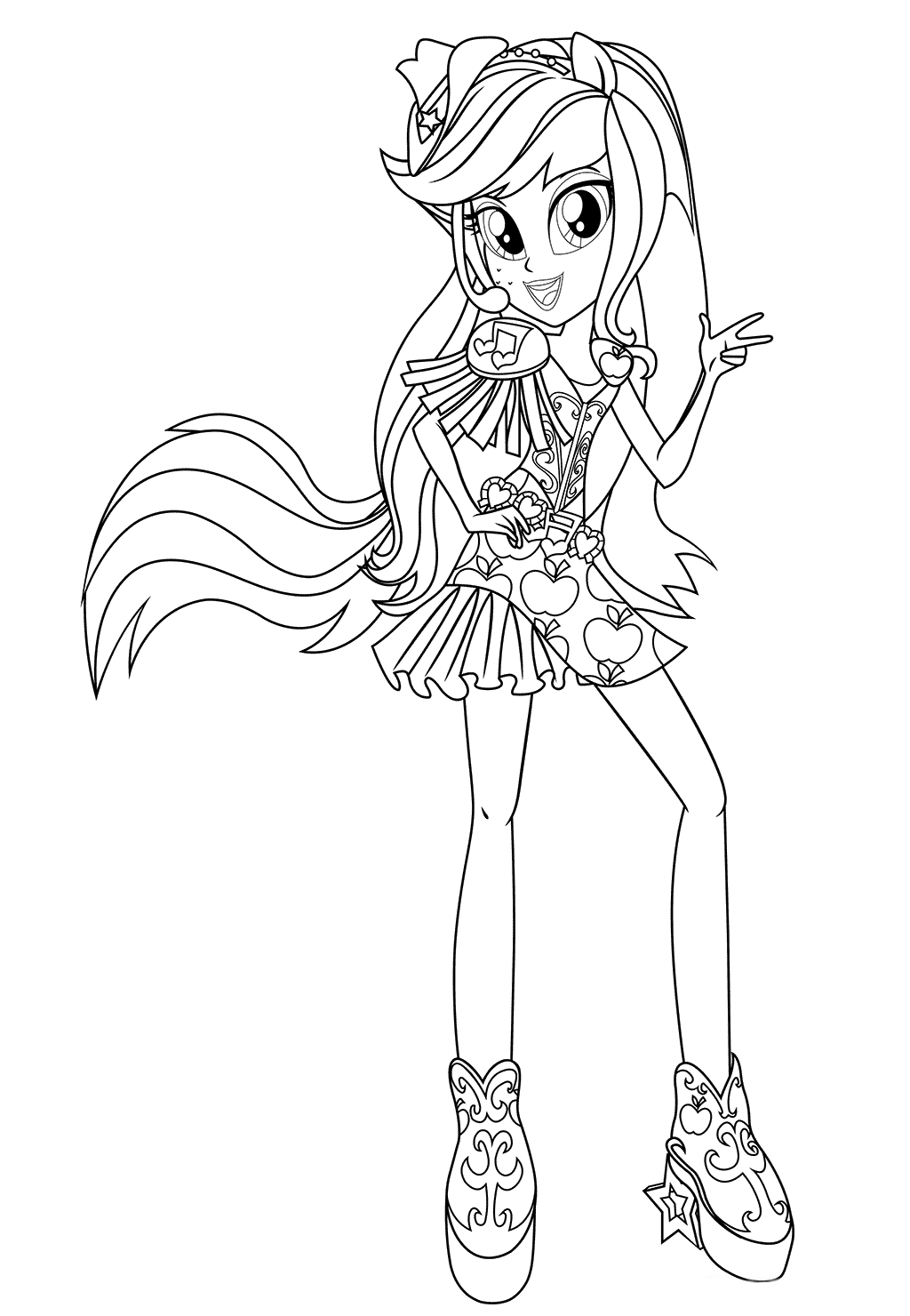 Applejack Coloring Pages Best Coloring Pages For Kids