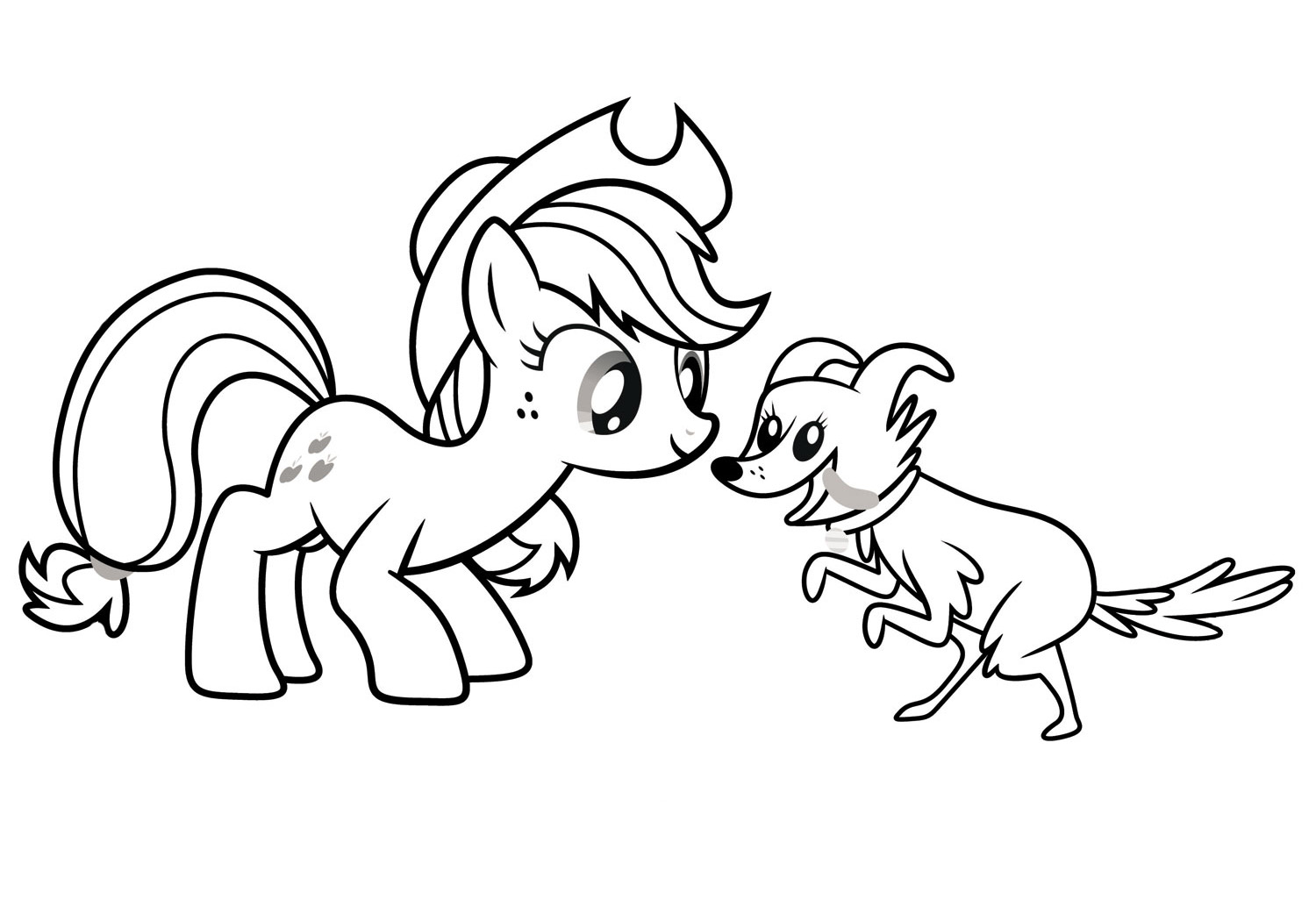 Applejack Coloring Pages - Best Coloring Pages For Kids