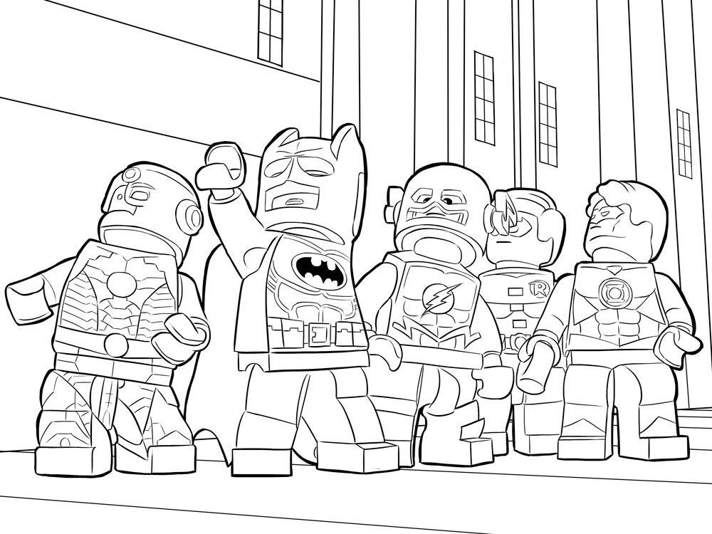 Batman - Lego Movie Coloring Pages