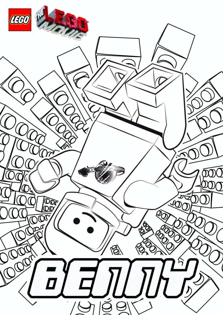 Benny - Lego Movie Coloring Pages