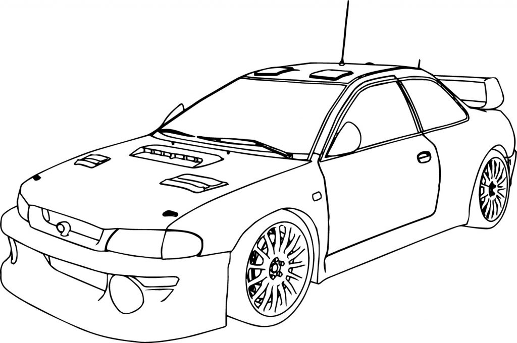 Car - Easy Coloring Pages for Adults