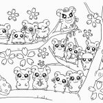 Cute Cute Hamsters Coloring Pages