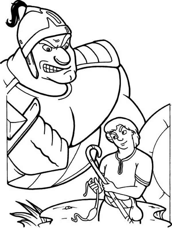 David and Goliath Printable Coloring Pages