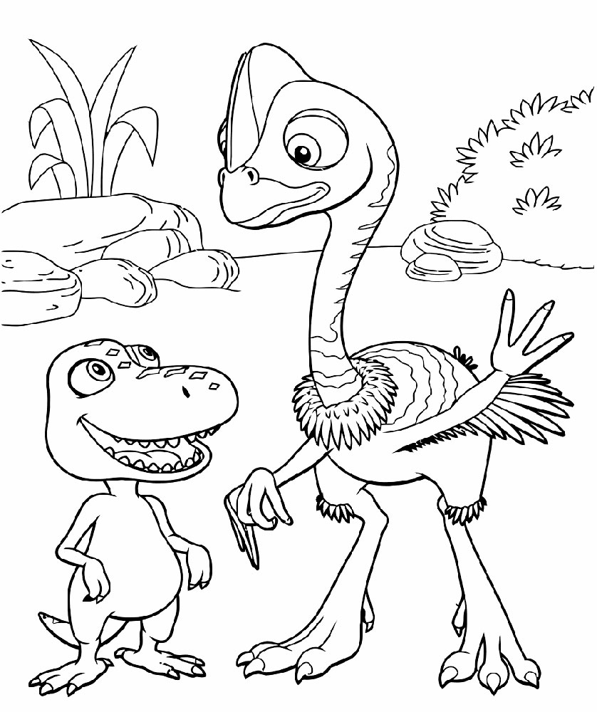 Dinosaur Train Character Coloring Page