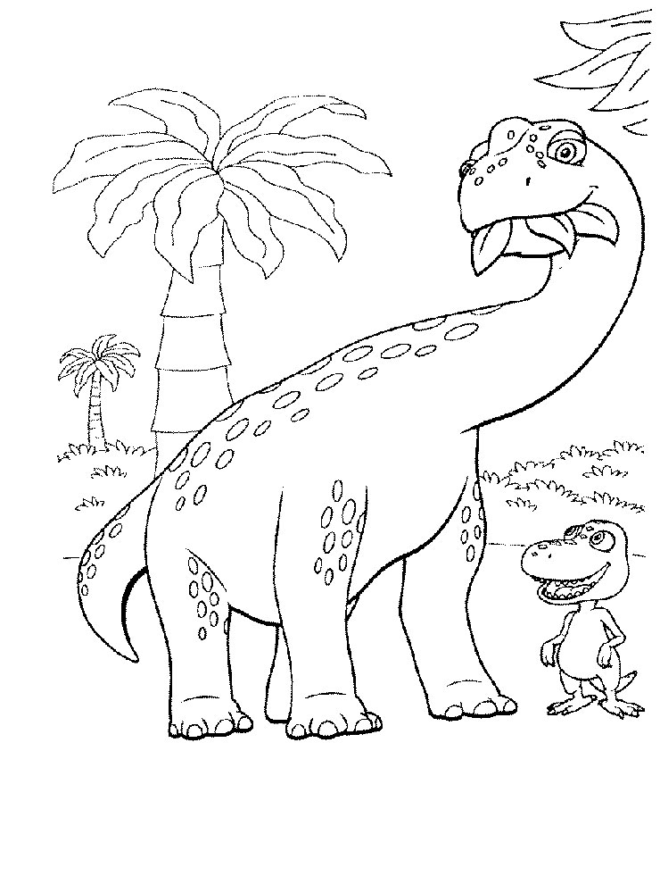 Dinosaur Train Printable Coloring Page