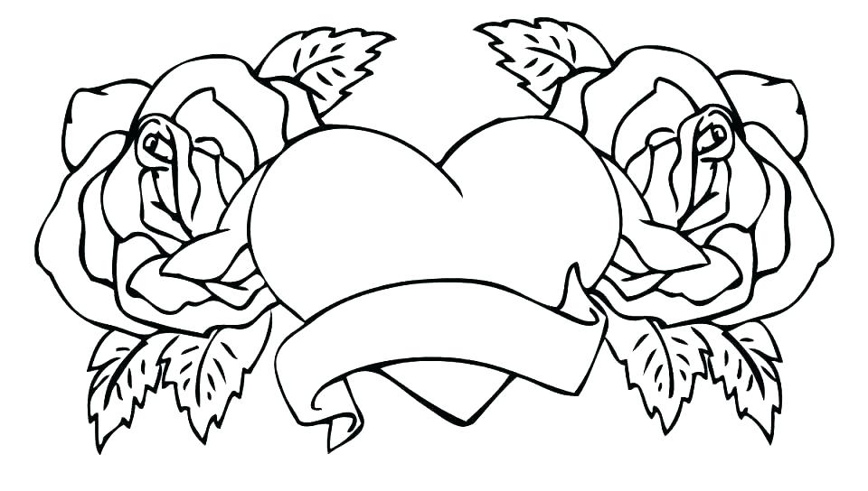Easy Heart Coloring Pages for Adults