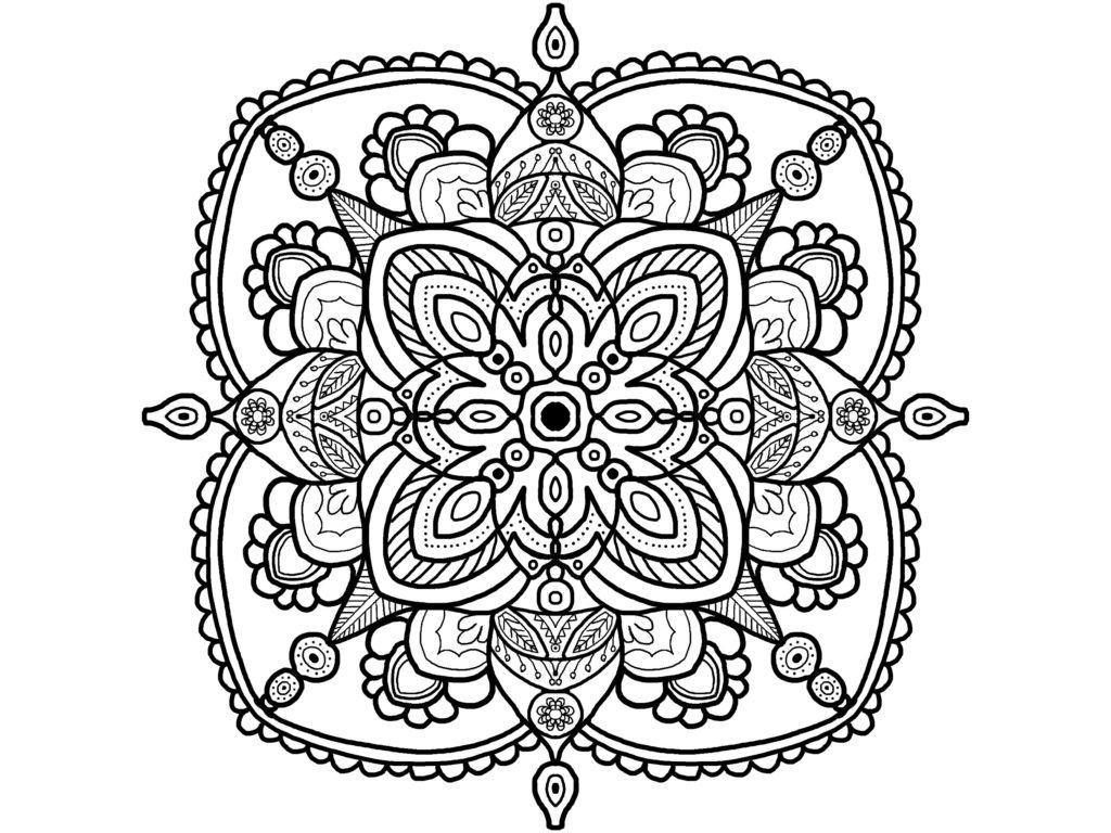 Easy Pattern Coloring Pages for Adults
