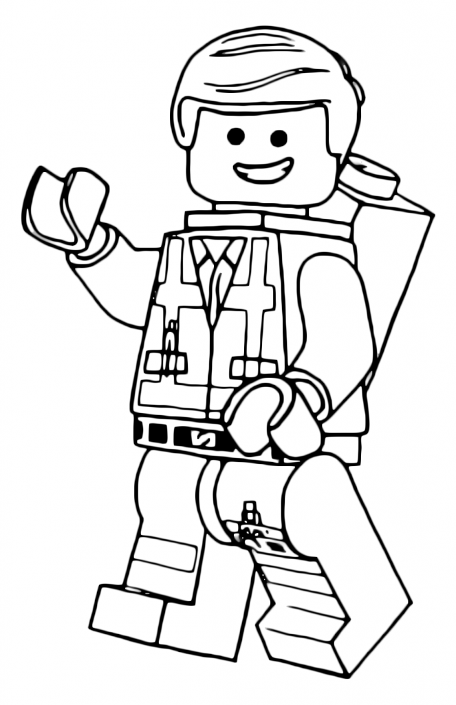 Emmet - Lego Movie Coloring Pages