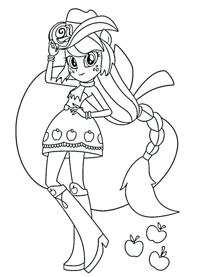 Equestria Girl Applejack Coloring