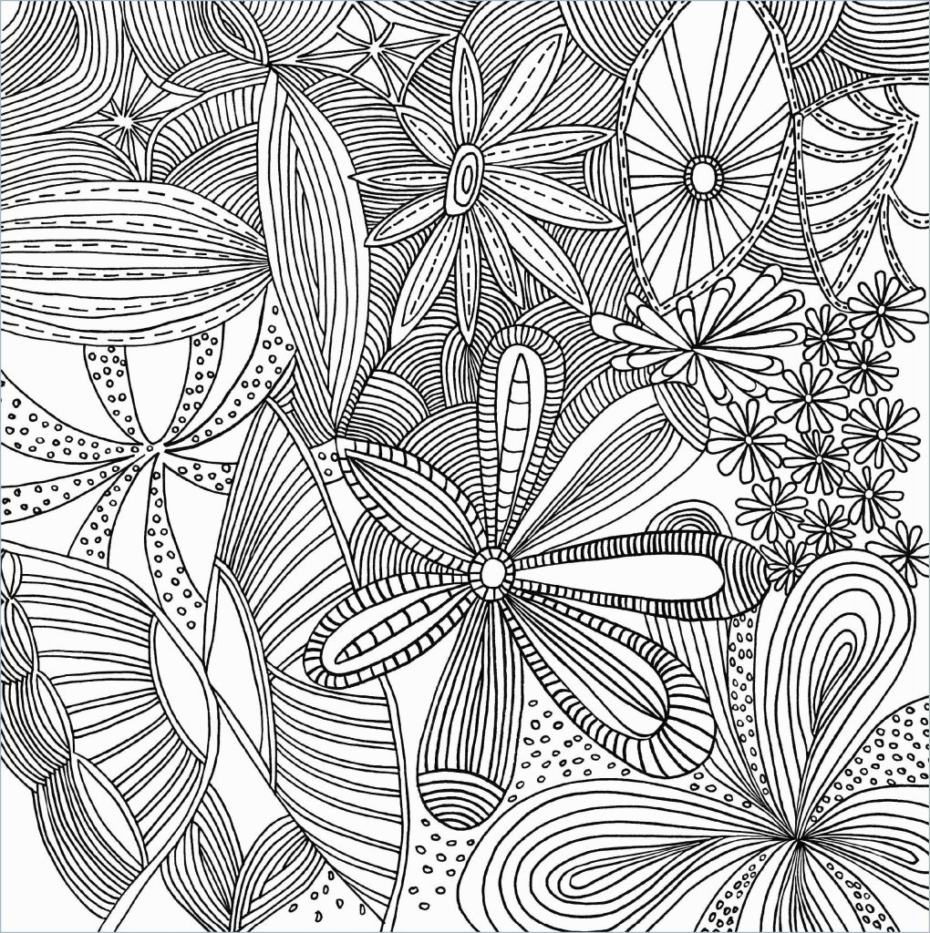 Flower Pattern for Adult Coloring