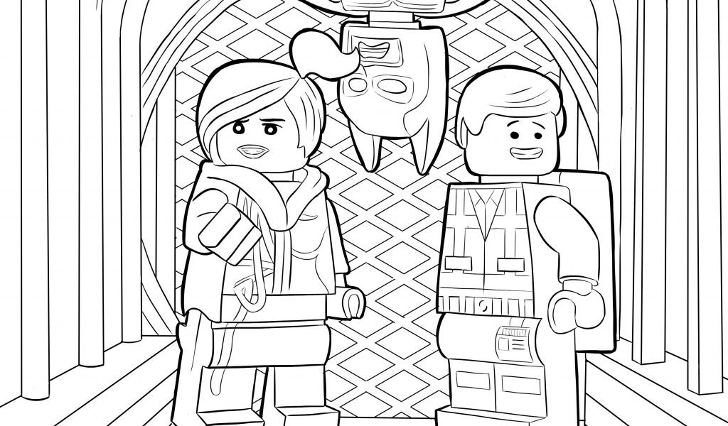 Funny Lego Movie Coloring Pages
