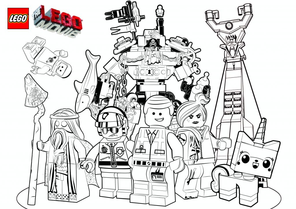 Lego Movie Characters Coloring Pages