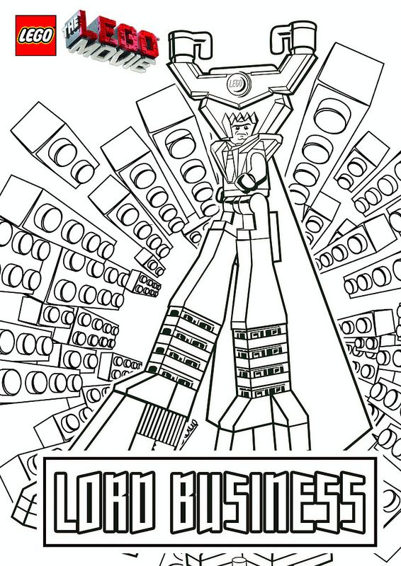 Lord Business - Lego Movie Coloring Pages
