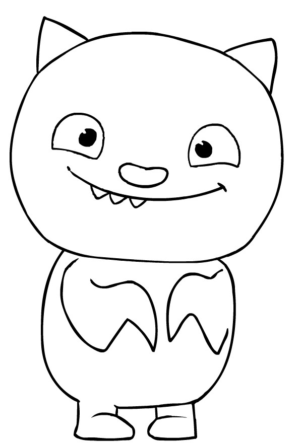 Lucky Bat - Ugly Doll Coloring Pages