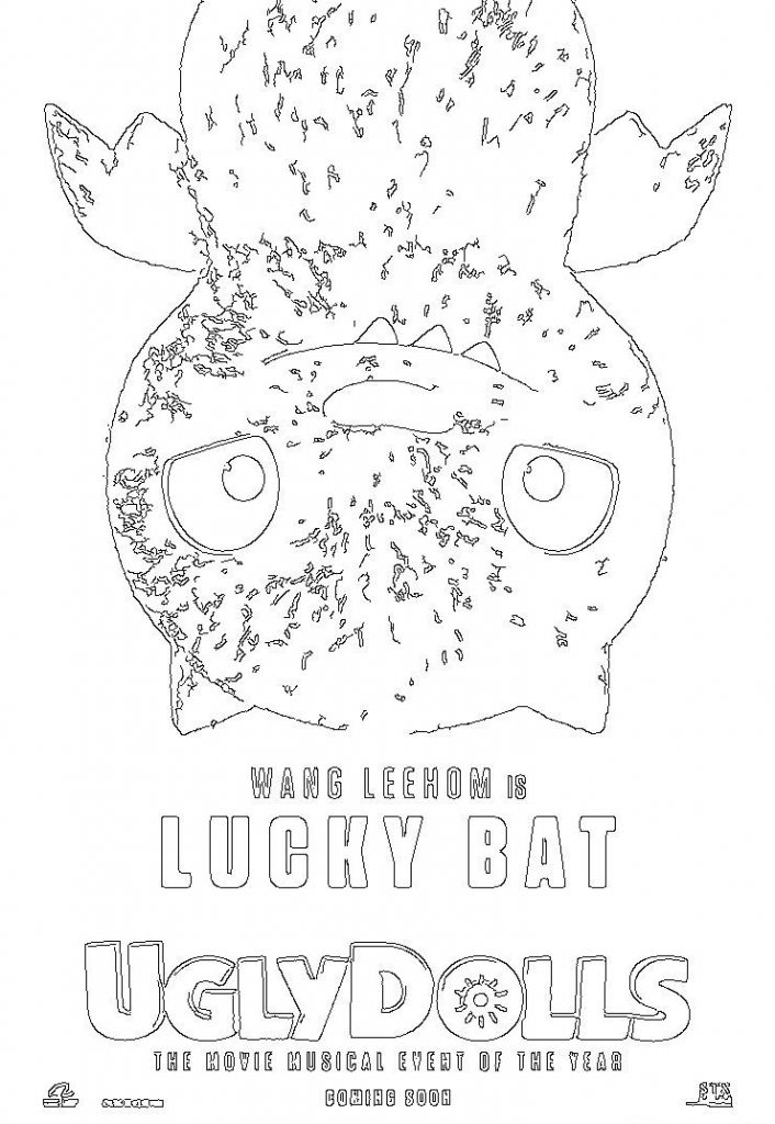 Lucky Bat - Ugly Dolls Coloring Pages