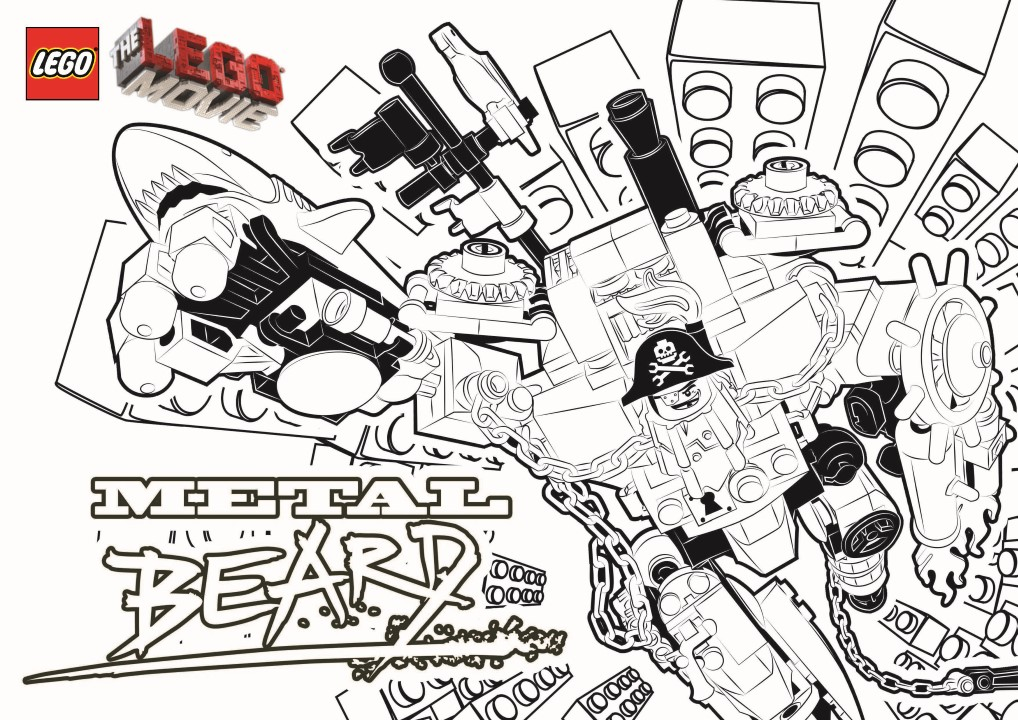 Metal Beard - Lego Movie Coloring Pages