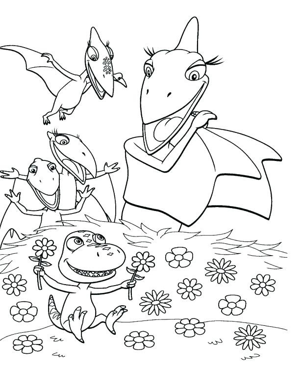 Mrs Pteranodon - Dinosaur Train Coloring Page