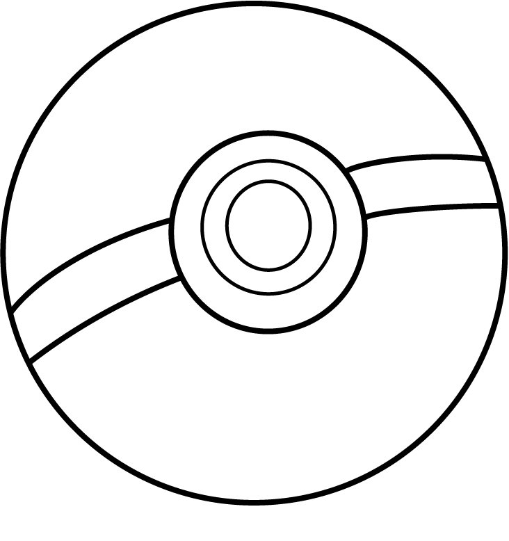 Pokeball Coloring page