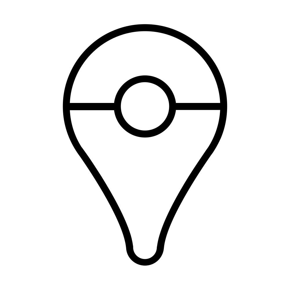 Pokeball Map Pin Go Coloring page
