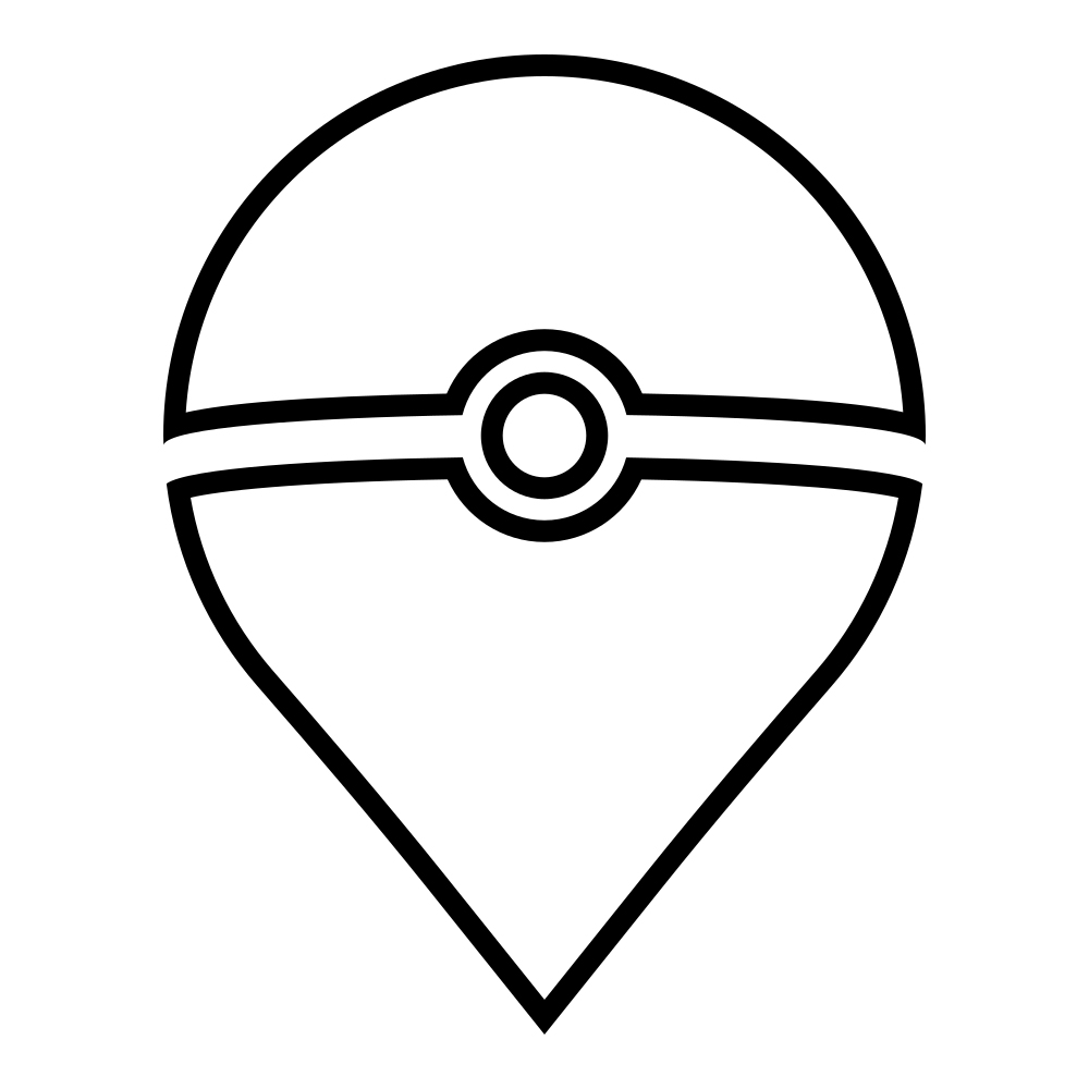Pokeball Pin Coloring Page
