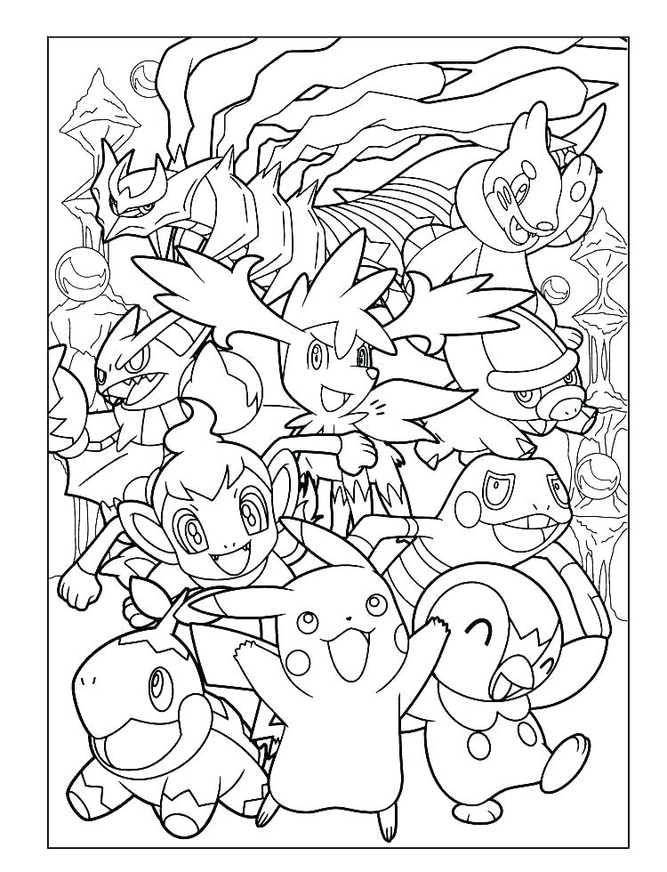 Pokemon Go Characters Coloring Pages