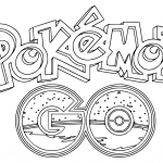 Pokemon Go Logo Coloring Page
