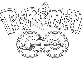 Pokemon Go Logo Coloring Page