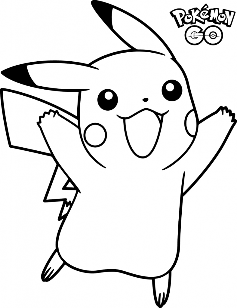 Pokemon Go Pikachu Coloring Pages