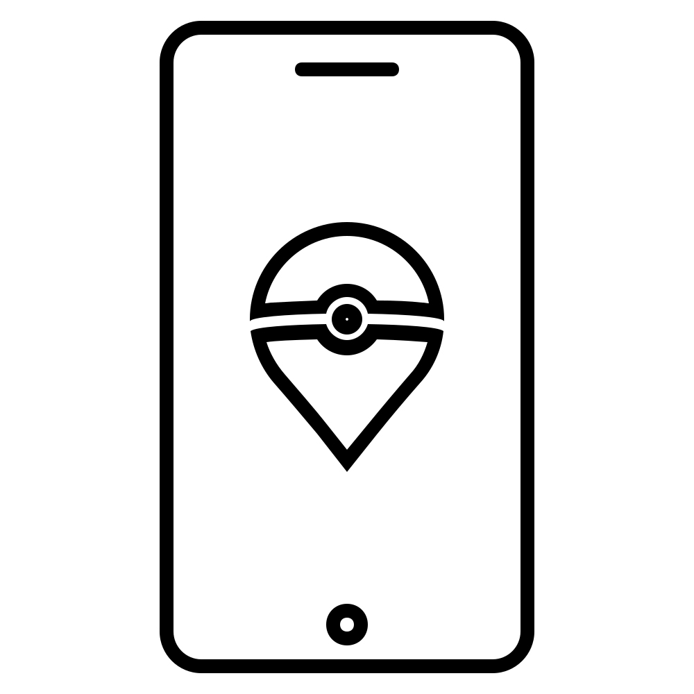 Pokemon Go Simple Coloring Page