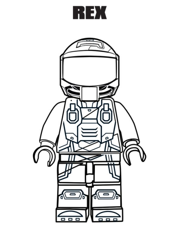 Rex - Lego Movie Coloring Pages