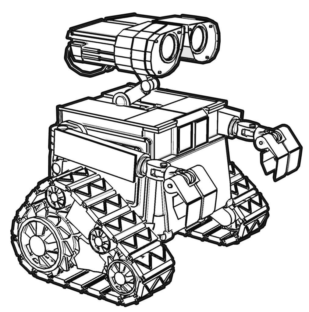 Printable Wall-E Coloring Page